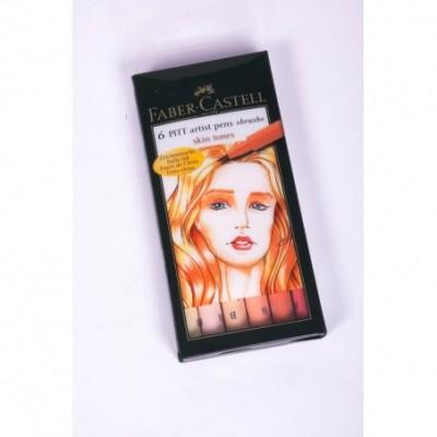 Juego Pitt Artist Pen skin x6 unidades Faber-Castell