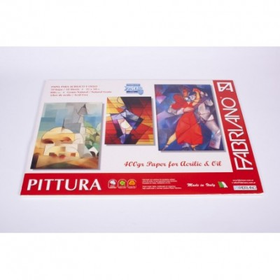 Block pittura 400gr 35x50cm oleo/acrilico 10 hjs Fabriano