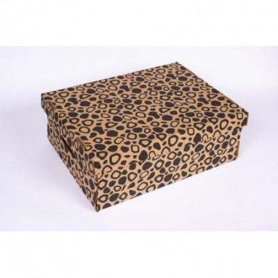 Caja grande 40x30x15 leopardo