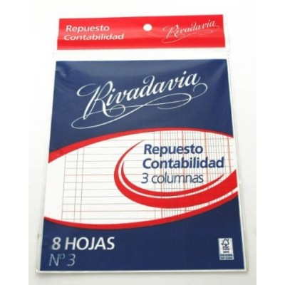 Repuesto Nº 3 de 3 columnas Rivadavia