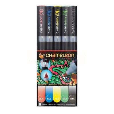Marcador Color Tones set x 5 colores primarios Chameleon