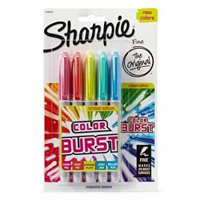 Marcadores Fino Color Burst x5 unidades Sharpie