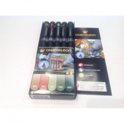 Marcador Color Tones set x 5 colores naturales Chameleon