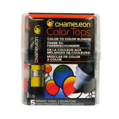 Marcador Color Tops Set x 5 colores Primarios Chameleon