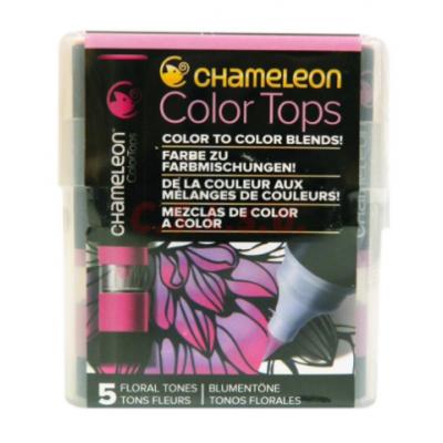 Marcador Color Tops Set x 5 colores Florales Chameleon