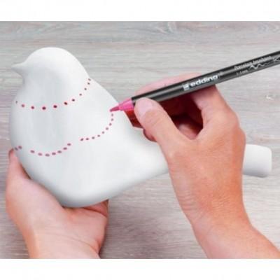 Marcador para porcelana brushpen EDDING.