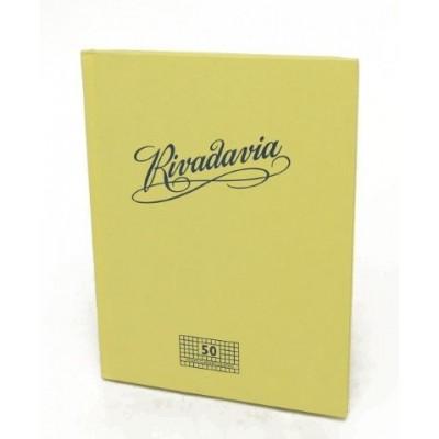 Cuaderno tapa de cartón x 50 hojas cuadriculado Rivadavia