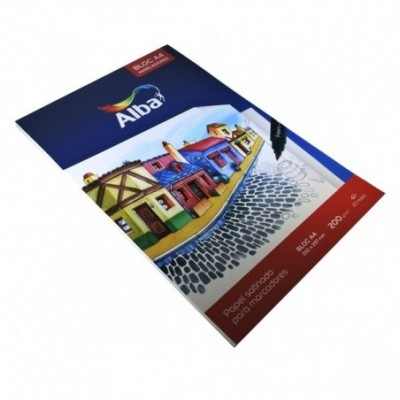 Block A4 200 Grs papel satinado ALBA
