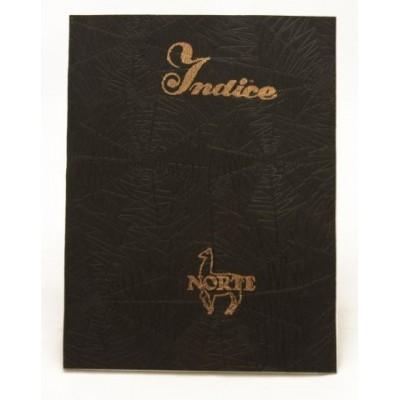 Cuaderno con indice tapa hule x 45 hojas Norte
