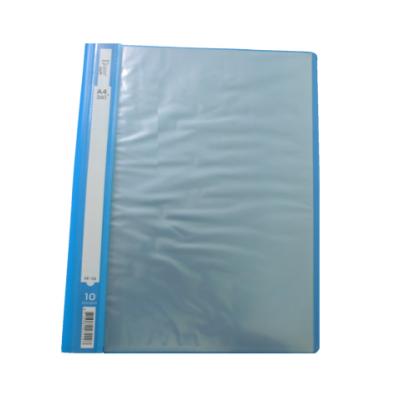 Carpeta A4 CELESTE con 10 folios tapa flexible