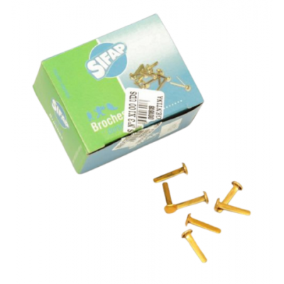 Broche dorado N°3 de 20 mm x100 unidades Sifap
