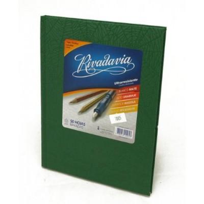 Cuaderno tapa de cartón x 50 hojas rayado verde Rivadavia