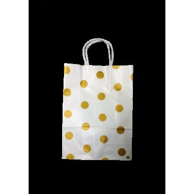 Bolsa de rgalo golden dots 14 x 20 FANPACK