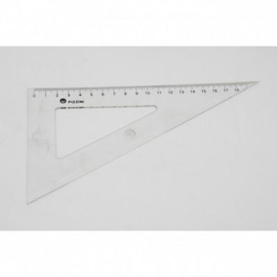 Escuadra 20cmx60º Transparente Pizzini