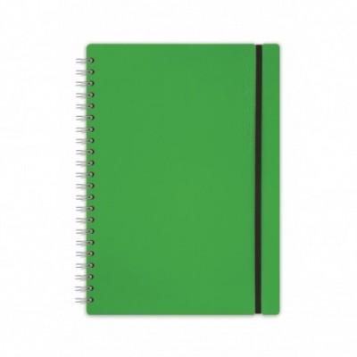 Cuaderno Cuero reciclado A6 rayado verde VACAVALIENTE