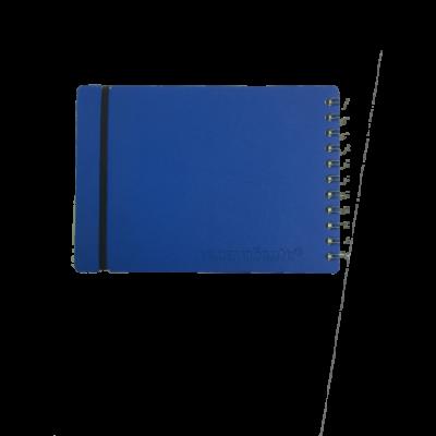 Anoptador A5 Cuero reciclado 80 hojas liso azul VACAVALIENTE