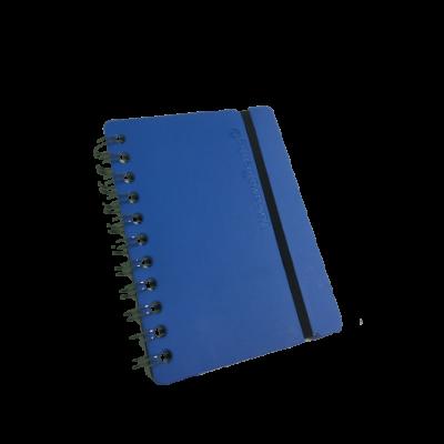 Cuaderno A6 Cuero reciclado azul rayado VACAVALIENTE