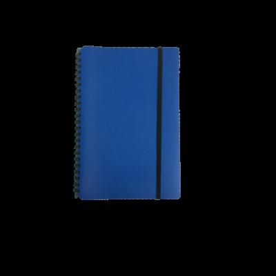 Libreta simple pocket Cuero reciclado azul 80 hojas VACAVALIENTE