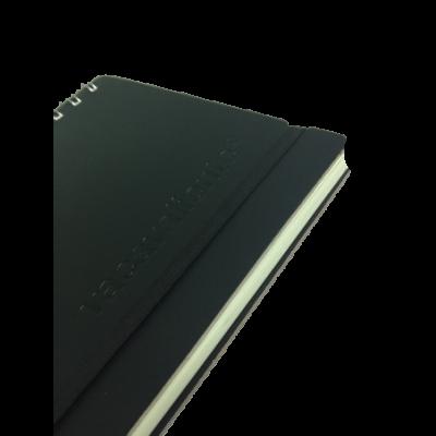 Cuaderno A5 Cuero reciclado 80 hojas liso negro VACAVALIENTE