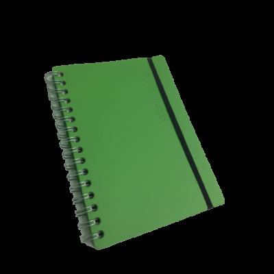 Cuaderno A5 Cuero reciclado 80 hojas rayado VACAVALIENTE