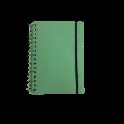 Cuaderno A5 Cuero reciclado rayado menta 80 hojas VACAVALIENTE