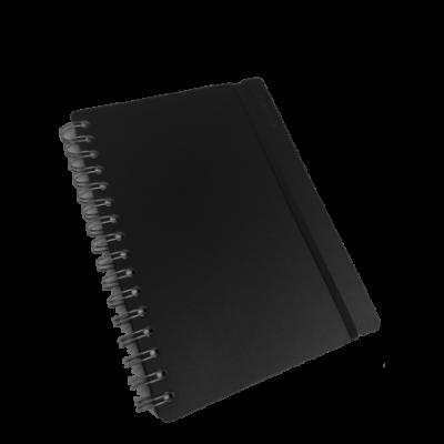 Cuaderno A5 Cuero reciclado 80 hojas rayado negro VACAVALIENTE