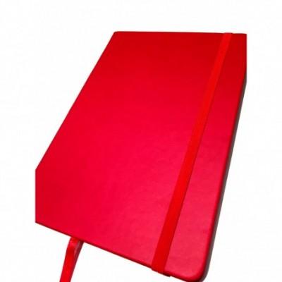 Cuaderno con elástico 14x21 cm x96 hojas rayadas ROJO Talbot
