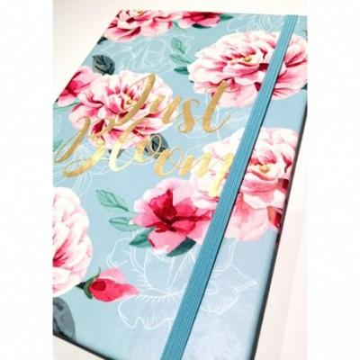 Cuaderno cierre elástico 14x21 cm x96 hojas rayadas JUST BLOOM Talbot