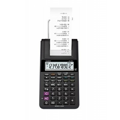 Calculadora de 12 digitos con funcion reimpresion HR-8RC
