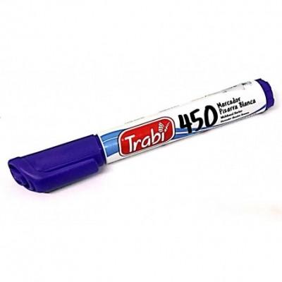 Marcador de pizarra recargable Lila punta redonda Trabi