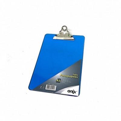 Portablock A5 azul / rosa de acrilico ONIX
