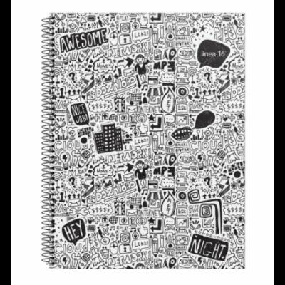 Cuaderno con espiral A4 tapa flexible linea 16 x84 hojas rayado Ledesma