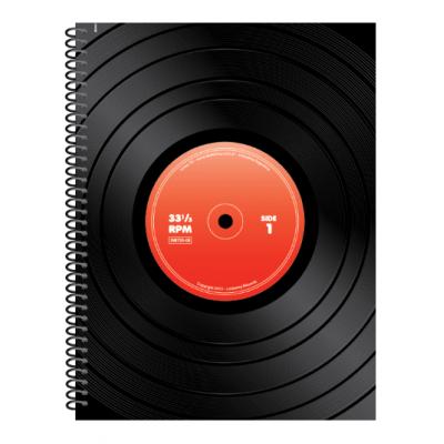 Cuaderno con espiral A4 tapa flexible linea 16 x84 hojas cuadriculado Ledesma