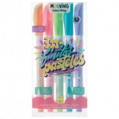 Microfibras de color pastel x 5 colores Finitos MOOVING