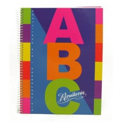 Cuaderno con espiral ABC 21 x 27 cm x 60 hojas cuadriculado Rivadavia