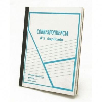 Cuaderno correspondencia nº 2 duplicado x 50 hojas
