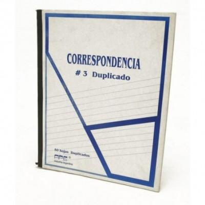 Cuaderno correspondencia nº 3 duplicado x 50 hojas