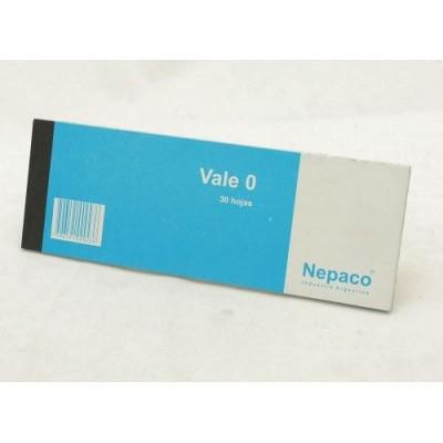 Talonario vale nº 0 x 30 hojas Nepaco