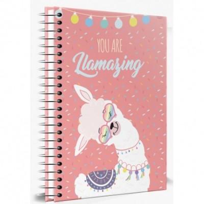 Cuaderno Tapa Dura 188x273 mm RAYADO No Drama Llama