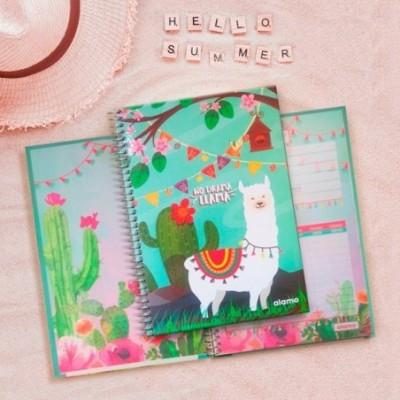 Cuaderno Tapa Dura 188x273 mm LISO No Drama Llama
