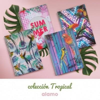 Cuaderno Tapa Dura 188x273 mm CUADRICULADO línea Tropical Alamo
