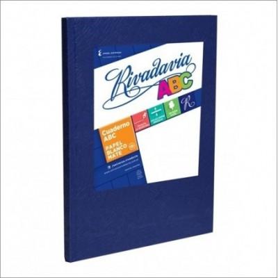 Cuaderno ABC 19x23 cm rayado AZUL x48 hojas Rivadavia