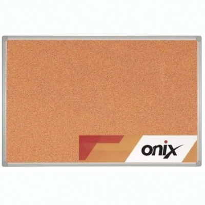 Pizarra corcho 90x120 cm marco de aluminio Onix