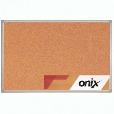 Pizarra corcho 60x90 cm marco de aluminio Onix