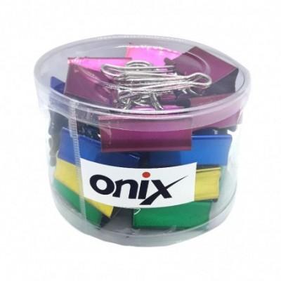 Binder Clip 41 mm COLOR METALIZADO Pote x24 unidades Onix