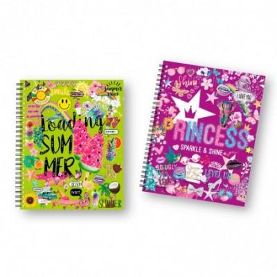 Cuaderno A4 CUADRICULADO Tapa dura Shiny x96 hojas Onix