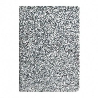 Cuaderno Glitter 14x21 cm x96 hojas rayadas SILVER Talbot