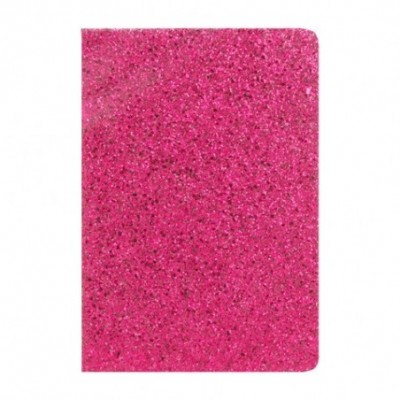 Cuaderno Glitter 14x21 cm x96 hojas rayadas ROSE GOLD Talbot