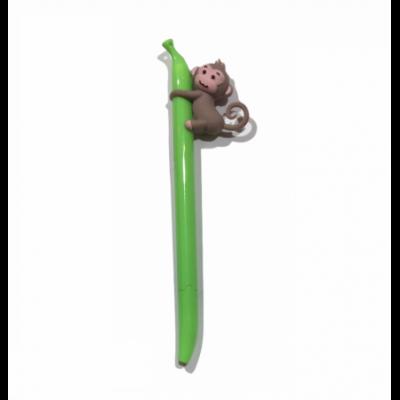 Bolígrafo Mono-Banana Verde tinta AZUL Kikka