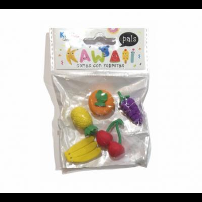 Goma 3D FRUTAS x5 unidades Kikka